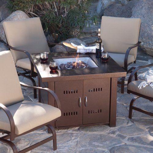 estufa y mesa para exterior
