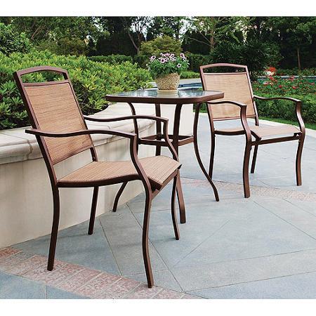 juego de mesa c vidrio y dos sillas para patio o jard n