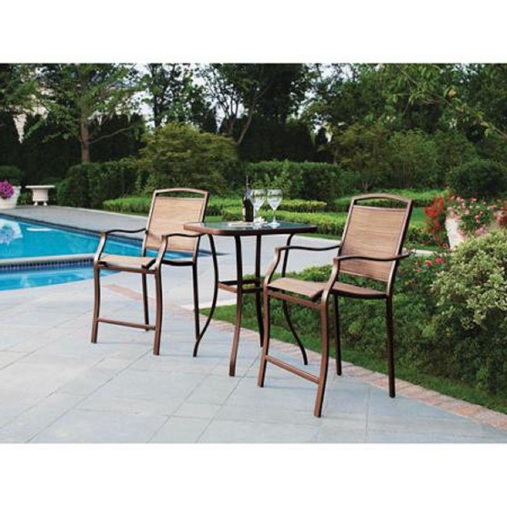 Juego de mesa c vidrio y dos sillas para patio o jard n for Ofertas en mesas y sillas