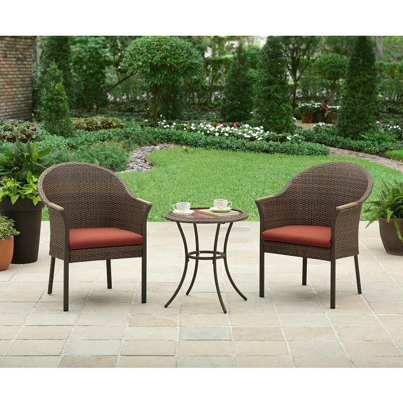juego de sillones con mesa para exterior bistro